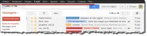 Le menu dans Gmail