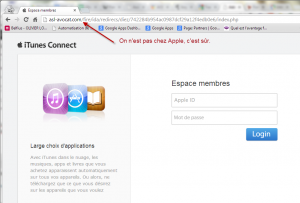 Phishing iTunes Connect
