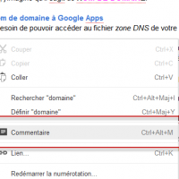 Document Google - insertion de commentaire