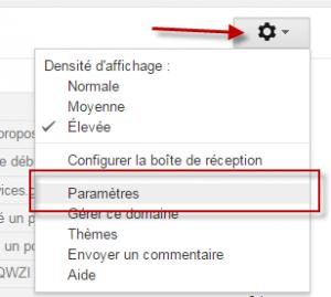 Gmail - paramètres