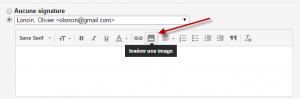 Gmail - insérer une image