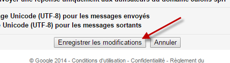 Enregistrer les modifications.