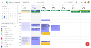 La nouvelle interface de Google Agenda