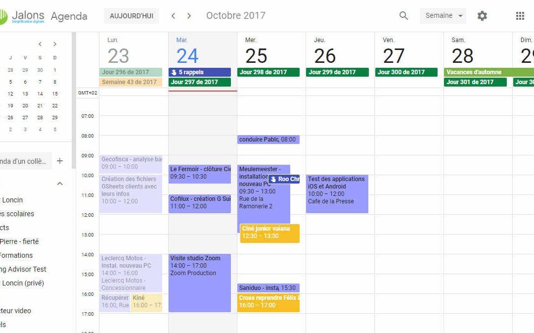 Nouveau look pour Google Agenda dans sa version web
