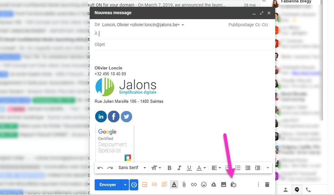 Gmail et le mode confidentiel
