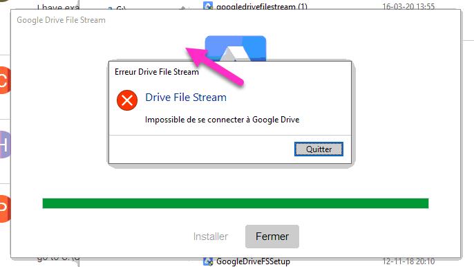 Résoudre des problèmes avec Drive File Stream