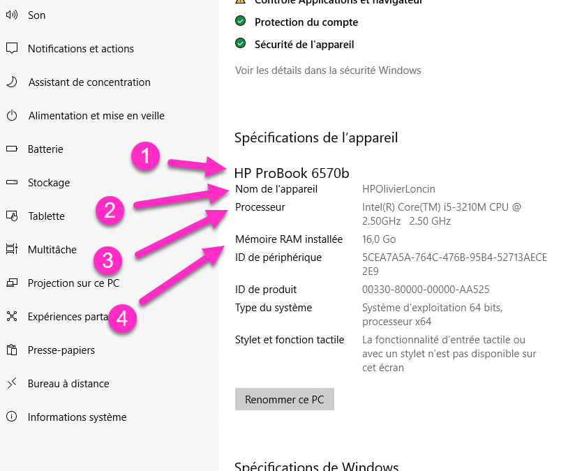 Windows 10, obtenir 6 infos système en une manipulation